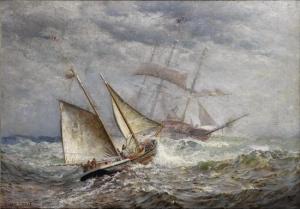 American-Ships-Meet-at-Sea-1903